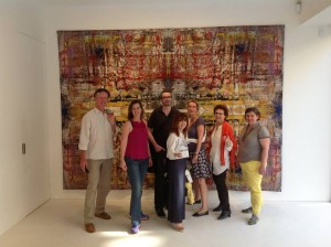 Group Shot in front of a Gerhard Richter tapestry - London July 2013